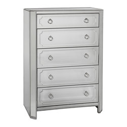 Bassett Mirror - Bassett Mirror Chapman 5 Drawer Chest T2752-920EC - Bassett Mirror Chapman 5 Drawer Chest T2752-920EC