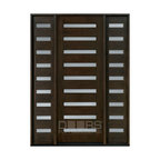 Modern Collection (Custom Solid Wood Doors) - Solid Wood Door - Single with 2 Sidelites - Modern Collection - Doors For Builders Inc.