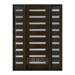 Modern Collection (Custom Solid Wood Doors) - Solid Wood Door - Single with 2 Sidelites - Modern Collection - Doors For Builders Inc.