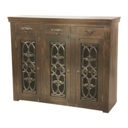 None - Joy Diamond 3-door Buffet - The Joy collection is an artistic interpretation of Spanish Colonial design while appreciating a casual and practical lifestyle of today's families.