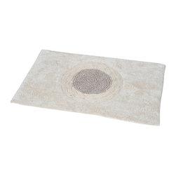 Prestige Cotton Bath Rug Rosa Beige - This prestige cotton bath rug Rosa is 100% cotton. Ultra-soft, deep, and inviting, this bath mat is a rug you can luxuriously sink your toes in and will give an embroidered sophisticated look to any bathroom. This beautiful bath rug features an eye-catching center panel with an embroidered rose pattern. It provides a soft, cushioned feel, shock absorption and is durable. Manufacturer recommends using a nonskid pad beneath the rug (not included). Hand wash and no dryer. Indoor use only. Width 20-Inch and length 31.5-Inch. Color beige and light grey. Enhance your bathroom decor with this handsome prestige bath rug and add an understated elegance to your space. Imported.