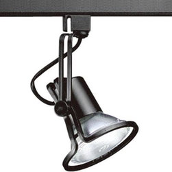 Progress Lighting - Progress Lighting Alpha Trak Collection Black 1-light Track Head P6329-31 - Shop for Lighting & Fans at The Home Depot. The AlphaTrak modular system provides a practical approach to providing illumination in targeted areas. Select from track fixtures that feature 360-degree rotation and 90-degree tilt for precising aiming of PAR, BR or halogen light sources. Select fixtures and accessories for a complete system. Alpha Trak is not compatible with modular track systems.