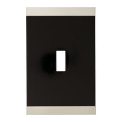 Liberty Hardware - Liberty Hardware 135754 Basic Stripe WP Collection 3.15 Inch Switch Plate - A simple change can make a huge impact on the look and feel of any room. Change out your old wall plates and give any room a brand new feel. Experience the look of a quality Liberty Hardware wall plate. Width - 3.15 Inch, Height - 4.9 Inch, Projection - 0.3 Inch, Finish - Satin Nickel & Black, Weight - 0.23 Lbs.