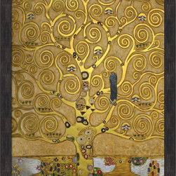 "overstockArt.com - Klimt - Tree of Life (Luxury Line) Wall Art, 30x40, Grazed Ebony - Distressed Bl - 30"" X 40"" Oil Painting On Canvas This painting is part of our ""Luxury Line"". It is made of the same hand painted oils on canvas, with the addition of beautifully hand embellished gold and silver accents. Exclusive only to our highest quality reproductions. Created in 1909 by artist Gustav Klimt, Tree of Life has been recreated to almost exact detail of the original. Artistic swirls, colors and lots of allegory give this painting many levels of meaning. Klimt, born in 1862 in Austria, was one of the most controversial painters of the early 20th century. He attended the Vienna School of Arts and Crafts where he studied to become an architectural painter. Klimt ended up becoming famous for his paintings that used romance, lust and women as its subject matter. These often garnered controversy from critics. His ""golden phase,"" where he used gold leaf in his paintings produced some of his most famous works, including The Kiss and Portrait of Adele Bloch-Bauer . His paintings can be easily recognized by their use of color and use of spirals and swirls. Enjoy the versatility of the Tree of Life painting when it hangs in your home or office. Gustav Klimt (1862-1918) was one of the most innovative and controversial artists of the early twentieth century. Influenced by European avant-garde movements represented in the annual Secession exhibitions, Klimt's mature style combines richly decorative surface patterning with complex symbolism and allegory, often with overtly erotic content. This work of art has the same emotions and beauty as the original. Why not grace your home with this reproduced masterpiece? It is sure to bring many admirers!"