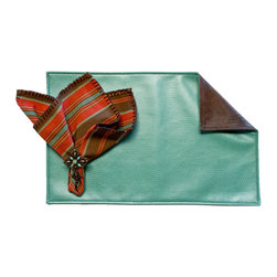 Silverado Home - Outback Turquoise Placemat - Sold in Sets of Four: