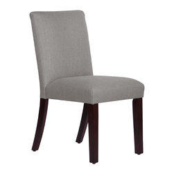 None - Made to Order Uptown Grey Dining Chair - This elegantly designed dining chair gives your dining room decor a fashionable look. Upholstered in soft linen fabric and delicately handcrafted in plush foam padding,this chair was created to make you feel comfortable.