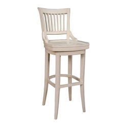 American Heritage Liberty 30 Inch Barstool in Antique White