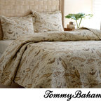 Tommy Bahama - Tommy Bahama Map 3-piece Quilt Set - Give your bedroom Old-World charm with this traditional quilt set by Tommy Bahama. Featuring a detailed vintage-style map print, this set has a unique look. This set is made of 100-percent cotton with a cotton/polyester fill to be soft and comfortable.