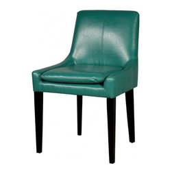 NPD (New Pacific Direct) Furniture - Chase Dining Chair (Set of 2) by NPD Furniture, Turquoise - Chase dining chair can add fashion and flare to a room in mere minutes. Update your dining table or use as an accent chair. Clean lines and stylish features complement the beauty of the supple bonded leather and solid birch wood legs. Available in Brown, Ivory, Payne's Grey, Red, Saddle Brown, Turquoise and Blue color.