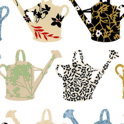 Wallpapers and Borders - Pattern Watering Cans Wallpaper