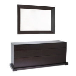 Lifestyle Solutions - 950 Series Dresser (Without Mirror) - -Solid wood drawer boxes with English Dovetail Joinery front & back