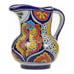"Mexican Talavera - Mexican Talavera 10"" Water Pitcher, Design D - Mexican Talavera 10"" Water Pitcher"