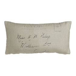 "French Laundry Home - French Laundry Home Linen Postcard Pillow, 12"" x 24"" - Linen, satin, washed velvet, and more comprise French Laundry Home's Aimee collection. Made of linen, cotton, polyester, and viscose. Select Natural or Cream when ordering. Duvet covers are linen with 3"" linen ruffle. Linen shams have 1"" linen ruffle..."