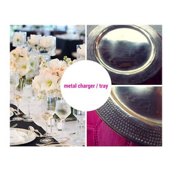 Metal charger / tray - We ♥