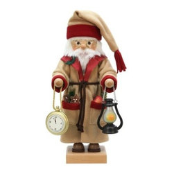 Ulbricht Father Time Nutcracker - Limited Edition - A meaningful addition to your holiday decor, the Ulbricht Father Time Nutcracker - Limited Edition is rich in detail. There are only 1,000 of these limited edition nutcrackers available. A welcome addition to any collection or holiday decor, this Father Time nutcracker is beautifully appointed and ready for display. It's an original design from Christian Ulbricht and is handcrafted in Germany from solid wood. He's decorated with fabric clothing and incredibly detailed accessories. Father Time is dressed in a brown coat and hat with red trim and brown tie. His pockets are filled with treats and in his hands you'll find his golden clock and lamp. Eyeglasses, a white beard, mustache, and hair, plus hand-painted features bring Father Time to life. The impeccable details and limited edition nature of this nutcracker ensure it will become an instant holiday tradition.About Alexander Taron, Inc.For more than half a century, the Taron Company has been delighting customers and collectors with traditional European gifts. These exquisite hand-crafted products range from nutcrackers and incense burners to ornaments and cuckoo clocks; unique and collectible, they make unforgettable gifts regardless the occasion. Originally founded in 1949, Alexander Taron remains dedicated to providing high-quality items at great value.