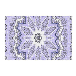 DiaNoche Designs - Area Rug by Monika Strigel - Fairy Dream Mandala Purple - Finish off your bedroom or living space with a woven Area Rug with Chevron pattern  from DiaNoche Designs. The last true accent in your home decor that really ties the room together. Maybe its a subtle rug for your entry way, or a conversation piece in your living area, your floor art will continue to dazzle for many years. 1/4 thick. Each rug is machine loomed, washed and pre-shrunk, printed, then hemmed on the edges.   Spot treat with warm water or professionally clean. Dye Sublimation printing adheres the ink to the material for long life and durability