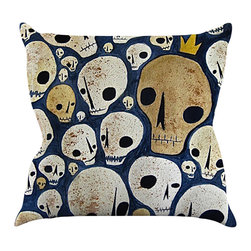 """Kess InHouse - Jaidyn Erickson """"Skulls""""  Throw Pillow (18"""" x 18"""") - Rest among the art you love. Transform your hang out room into a hip gallery, that's also comfortable. With this pillow you can create an environment that reflects your unique style. It's amazing what a throw pillow can do to complete a room. (Kess InHouse is not responsible for pillow fighting that may occur as the result of creative stimulation)."""