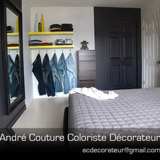 Modern Bedroom by Andre Couture Coloriste Decorateur
