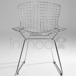 Bertoia Side Chair - In the 1950's, Harry Bertoia began experimenting with bending metal rods into practical art. This resulted in his now infamous seating collection, including his wire side chair. The Bertoia Side Chair is a high quality reproduction of Bertoia's original designed in 1952, offered at a price that makes it an affordable addition to your home.