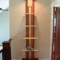 Asian Wall Shelves by Craftsman Timber Frame Ltd.