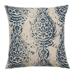 Look Here Jane, LLC - Manchester Indigo Navy Pillow Cover - PILLOW COVER