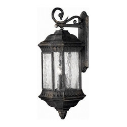 Hinkley Lighting - Hinkley Lighting 1726BG Regal Black Granite Outdoor Wall Sconce - Hinkley Lighting 1726BG Regal Black Granite Outdoor Wall Sconce