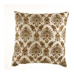 D.V. KAP Home - Tavoos Cream 24 x 24 Decorative Pillow - -24x24 zippered removable cover  -Comes with Feather/Down insert  -Spot or dry clean D.V. KAP Home - 2066-C