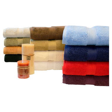 "Bed Linens - Egyptian Cotton 900GSM 4pc Hand Towel Set White - Towel Set Includes:    Four Hand Towels - 20""x30"" each"