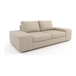 Viesso - Strata Full Sofa Bed (Eco-Friendly) - Finally, a sofa bed that doesn't look like a sofa bed. This modern sofa bed works like traditional pullout sleepers with the pullout sleeper being stored in the sofa frame. But we offer two very extremely comfortable mattress options, and a stylish design with the wide arms and low profile. The low, wide arms invite additional guests to sit, can be hallowed out for storage, and are also the ideal surface for a laptop or your glass of wine like a built in end table.
