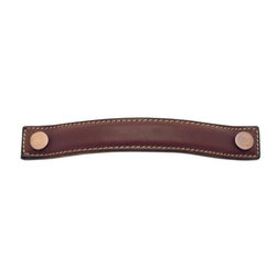 Cabinet Hardware: Leather - Turnstyle Leather Cabinet Bow pull available in different leather stains and metal finishes!
