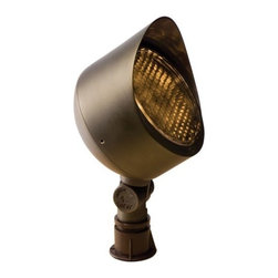 Troy Lighting - Round Flood Light by Troy Lighting - The high-tech-looking honeycomb filter on the Troy Landscape Lighting Round Flood Light provides a welcome anti-glare function, making sure the light goes just where you want it. Pair that up with an easily adjustable knuckle and shroud and this little fixture is guaranteed to only shine where it's supposed to. Troy Lighting, headquartered in California, designs and manufactures indoor and outdoor lighting fixtures, utilizing hand-forged iron and hand-applied finishes to create quality products with high-style appeal.