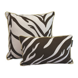 ez living home - EZ Living Home Zebra Dec Pillow Brown, 20x12 - *Timeless and classic zebra pattern with a modern touch, complements existing room decoration.