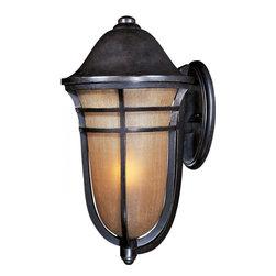 Joshua Marshal - One Light Artesian Bronze Mocha Cloud Glass Wall Lantern - One Light Artesian Bronze Mocha Cloud Glass Wall Lantern