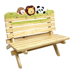 Fantasy Fields - Fantasy Fields Sunny Safari Outdoor Bench Multicolor - TD-0027A - Shop for Childrens Outdoor Furniture from Hayneedle.com! The Teamson Design Outdoor Bench - Sunny Safari Collection takes your child on a fun adventure in the safety of his or her own bedroom. The bench is perfect for your child to read play or relax in comfort. The Sunny Safari Collection transports your child to a colorful scene with a friendly monkey lion and panda. Hand-painted and hand-carved this bench is made from high-quality MDF and features a unique finish that allows it to be used outdoors and maintain its attractive design. Dimensions: 24L x 19W x 20.75H inches.About Teamson DesignBased in Edgewoood N.Y. Teamson Design Corporation is a wholesale gift and furniture company that specializes in handmade and hand painted kid-themed furniture collections and occasional home accents. In business since 1997 Teamson continues to inspire homes with creative and colorful furniture.