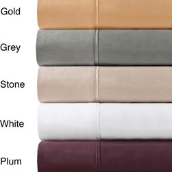 Madison Park - Madison Park 600 Thread Count Pima Cotton Sateen 4-piece Sheet Set - Create an oasis of comfort in your bedroom with these soft pima cotton sheets. Machine washable,these 600-thread count sheets made from cotton santeen are easy to care for and come in four chic colors that add a contemporary note to your bed.