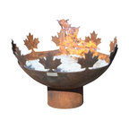 John T. Unger - Big Bowl O Canada Sculptural Firebowl - The Big Bowl O Canada takes it's name from Canada's National Anthem, composed in 1880 by Calixa Lavallée, a talented musician whose father worked as a woodcutter, blacksmith and luthier. Although many variations of the song exist, in multiple languages, the tune is the same for all. I couldn't resist the connection between music and sculpture, between firebowls, lumberjacks and blacksmithing. The idea of art arising from hard work, skill and a grounding in the natural world is at the heart of this design.