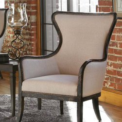 "23073 Sandy, Wing Chair by uttermost - Get 10% discount on your first order. Coupon code: ""houzz"". Order today."