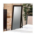 Coaster - Ventura Standing Floor Mirror - Rectangular shape. Wooden frame. 21.25 in. W x 1 in. D x 64 in. H. WarrantyThe clean lines and modern design of the Ventura collection are sure to brighten up any bedroom.