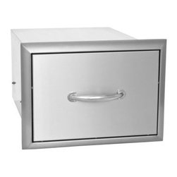 Blaze Outdoor - Blaze Single Drawer - Commercial grade 304 Stainless Steel construction is made for withstanding outdoor elements.