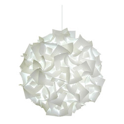 Akari Lanterns - Deluxe Squares Swag Hanging Lamp - Cool white glow - Deluxe Squares Hanging Pendant Light - Cool white glow