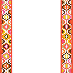 WallPops - Bargello Waves Message Board Wall Decal - It's a granny gone wild pattern of retro waves in bold, juicy hues! This dry-erase message board wall decal combines Jonathan Adler's signature happy-chic stylings with WallPops peel and stick perfection! WallPops Decals are repositionable and always removable.