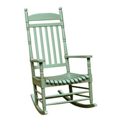 International Concepts - International Concepts R-54208 Porch Rocker - Turned Post - Solid Wood - Moss - Porch Rocker - Turned Post - Solid Wood - Moss by International Concepts Rocker (1)