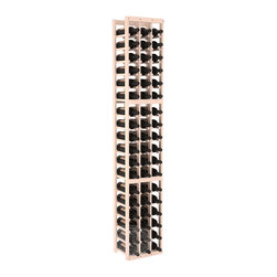 3 Column Standard Cellar Kit in Pine with White Wash Stain + Satin Finish - Each wine cellar rack meets Wine Racks America's unparalleled fabrication standards. Modular engineering provides universal kit compatibility which enables connoisseurs to mix and match wine rack kits until you achieve a personally-defined wine bottle storage system.