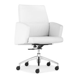 ZUO MODERN - Chieftain Low Back Office Chair White - Chieftain Low Back Office Chair White