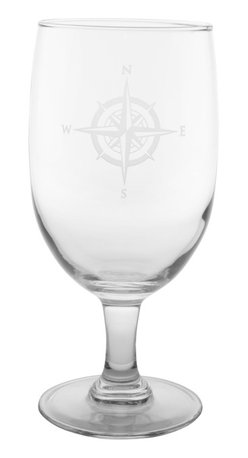 Rolf Glass - Compass Rose Iced Tea 16oz, Set of 4 - Whether it's black, green or a tropical blend, these iced tea glasses crafted from cut glass hold just enough to quench any thirst. North, south, east or west, the elegantly etched compass will keep you centered.