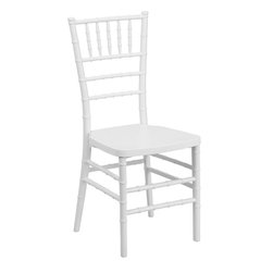 Flash Furniture - Flash Furniture Flash Elegance White Resin Stacking Chiavari Chair - If you've been to a wedding, chances are you've sat in a Chiavari chair. Chiavari Chairs have become a classic in the event industry and are also highly popular in high profile entertainment events. This chair is used in all types of elegant events due to its lightweight, stacking capabilities and elegant design. Keep your guests comfortable with optional cushions and keep your chairs beautiful with chair covers.