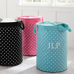 Dottie Contain-It Laundry Bin - Lightweight and durable, this colorful canvas bin is a laundry-day must-have.