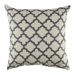Rizzy Home - Gray and Ivory Decorative Accent Pillows (Set of 2) - T04064 - Seat of 2 Pillows.
