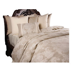 Provincial Duvet Set, Ultra King - A luxurious assortment of Linen in natural colors giving the Provincial a suffocated and elegant look.