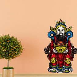 Chinese God Vinyl Wall Decal ChineseGodUScolor006; 72 in. - Vinyl Wall Decals are an awesome way to bring a room to life!